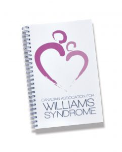 wiliamssyndrome.ca // CAWS logo notebook