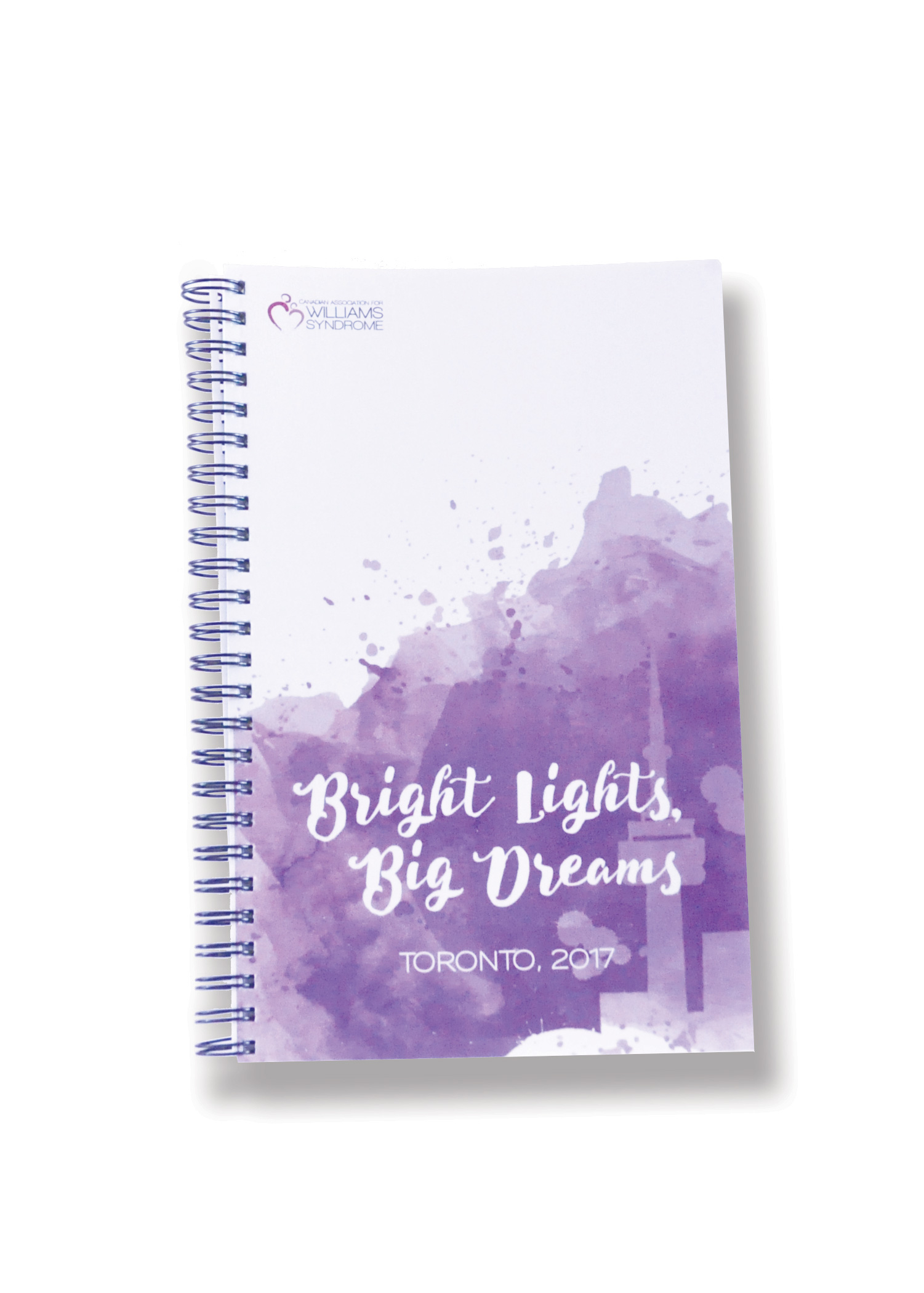 wiliamssyndrome.ca // Bright Lights Big Dreams notebook