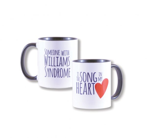 wiliamssyndrome.ca // CAWS song in my heart mug
