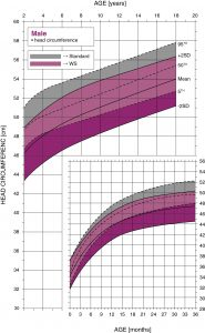 Williams syndrome male head circumference growth chart