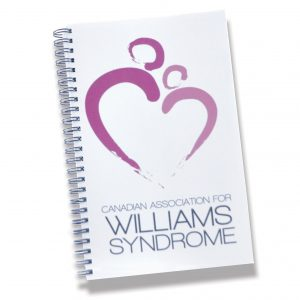wiliamssyndrome.ca // CAWS logo notebook